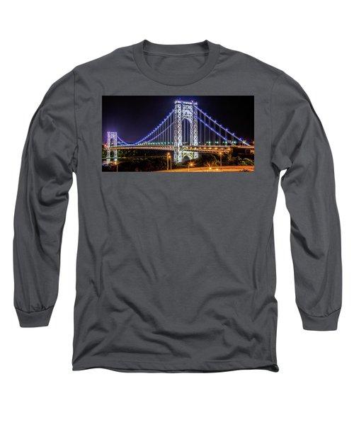 Long Sleeve T-Shirt featuring the photograph George Washington Bridge - Memorial Day 2013 by Theodore Jones