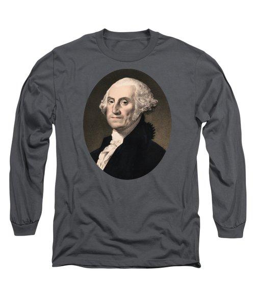 George Washington - Vintage Color Portrait Long Sleeve T-Shirt