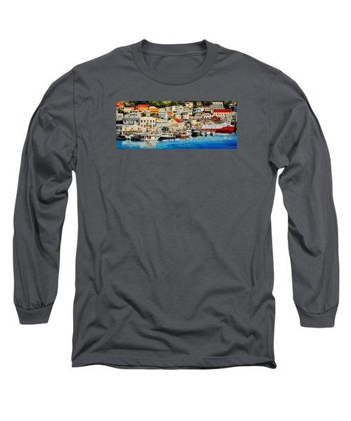 Georgetown Harbor, Grenada Long Sleeve T-Shirt