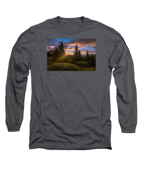 Georgia Pass Sun Rays Long Sleeve T-Shirt by Michael J Bauer