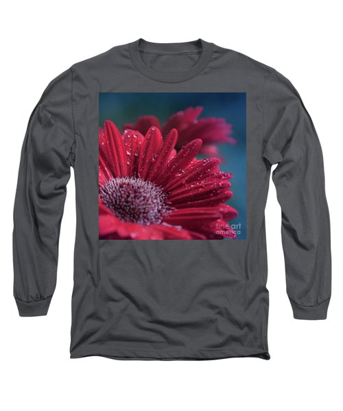 Long Sleeve T-Shirt featuring the photograph Gerbera Red Jewel by Sharon Mau