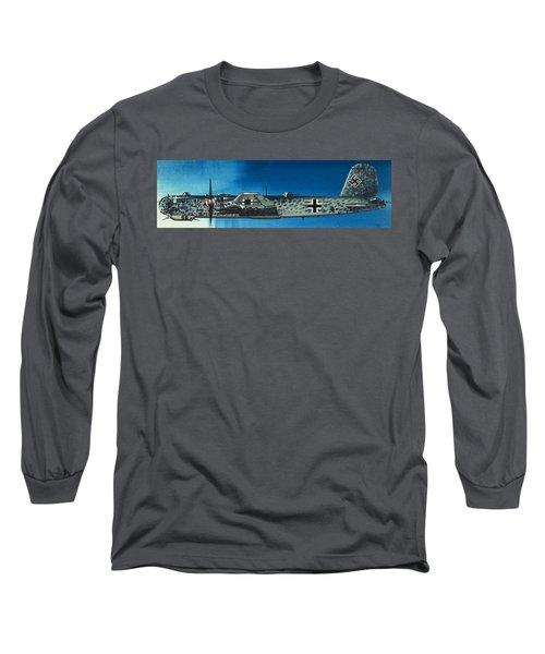 German Aircraft Of World War  Two Focke Wulf Condor Bomber Long Sleeve T-Shirt