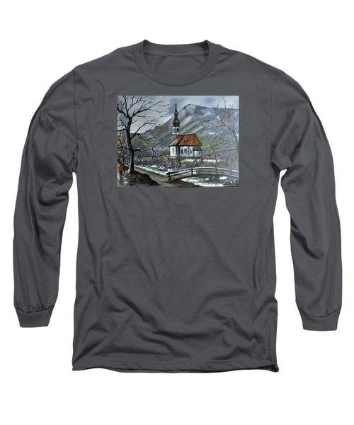 German Church At Ramsau  Long Sleeve T-Shirt