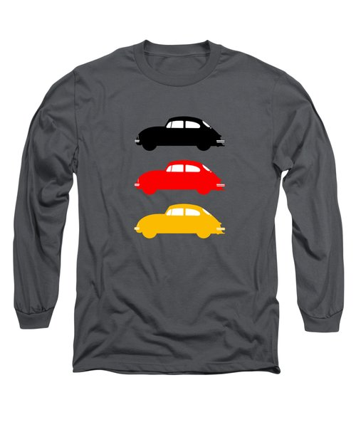 German Icon - Vw Beetle Long Sleeve T-Shirt by Mark Rogan