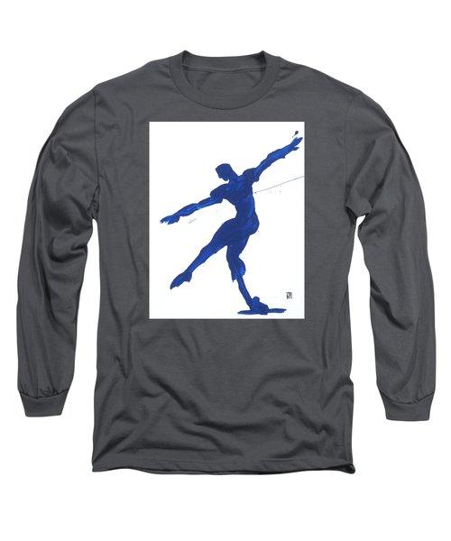 Gesture Brush Blue 2 Long Sleeve T-Shirt