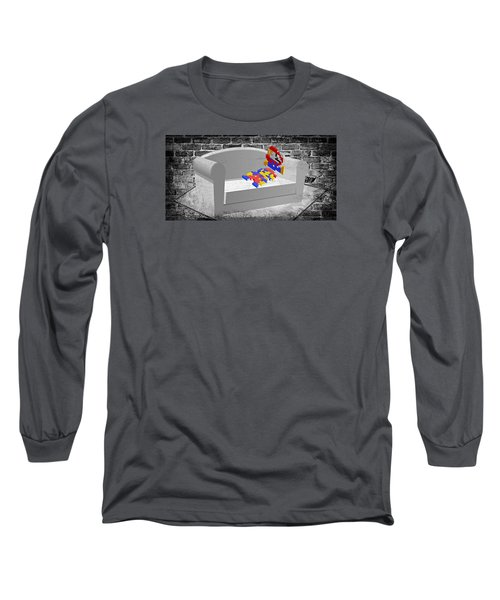 Get Up And Play Long Sleeve T-Shirt by Ally White