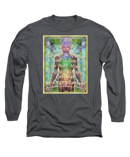 Long Sleeve T-Shirt featuring the digital art Getting Super Chart For Affirmation Visualization V2 by Christopher Pringer
