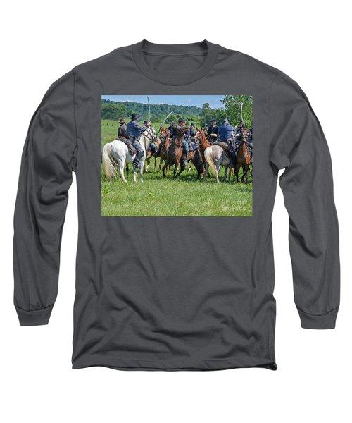 Gettysburg Cavalry Battle 7970c  Long Sleeve T-Shirt