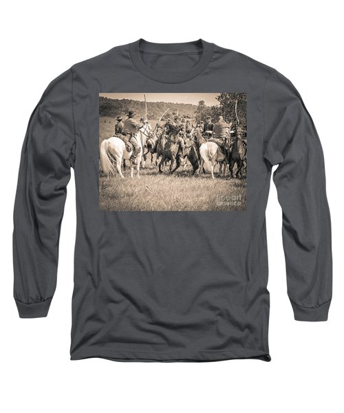 Gettysburg Cavalry Battle 7970s  Long Sleeve T-Shirt