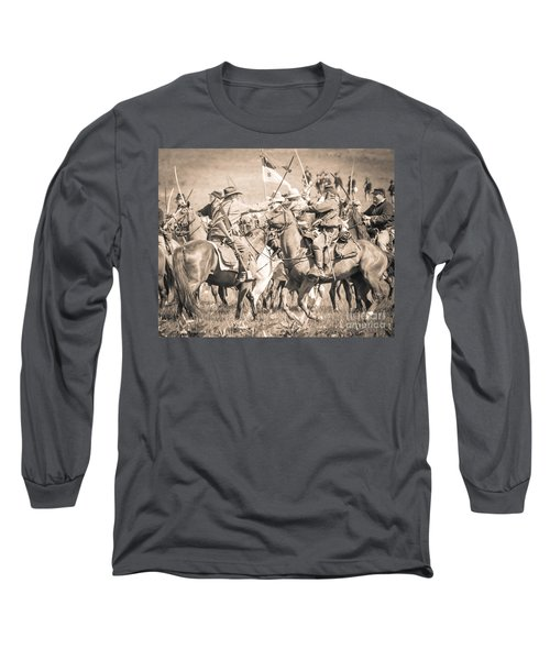 Gettysburg Cavalry Battle 8021s  Long Sleeve T-Shirt