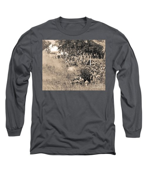 Gettysburg Confederate Infantry 8825s Long Sleeve T-Shirt