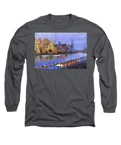 Long Sleeve T-Shirt featuring the painting Ghent by Jamie Frier