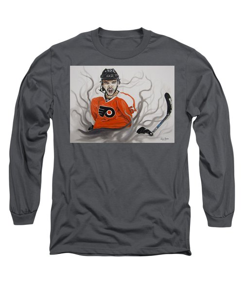 Long Sleeve T-Shirt featuring the painting Ghost Bear by Kevin F Heuman