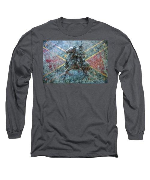 Long Sleeve T-Shirt featuring the digital art Ghost Of Gettysburg Verson Three by Randy Steele