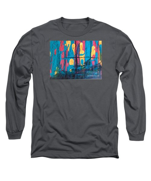 Ghost Ship Long Sleeve T-Shirt by Marcia Dutton