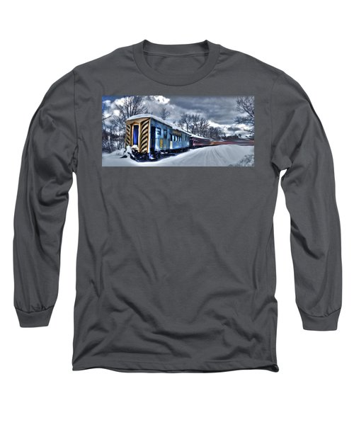 Ghost Train In An Existential Storm Long Sleeve T-Shirt