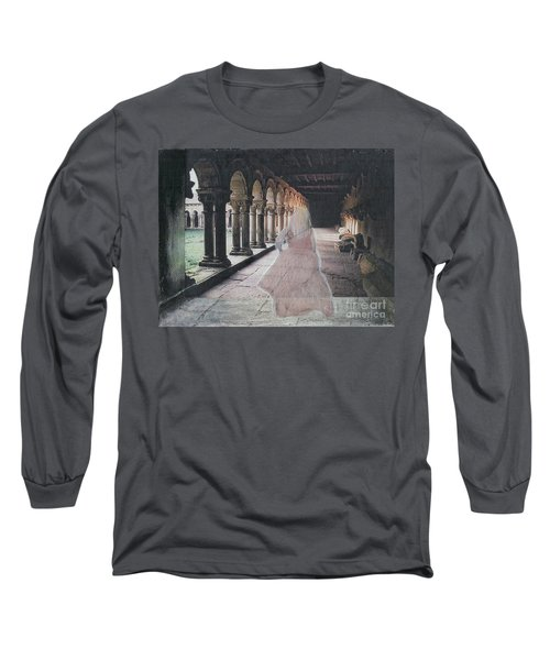 Long Sleeve T-Shirt featuring the mixed media Ghostly Adventures by Desiree Paquette