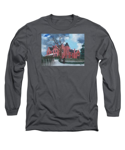 Ghostly Nun Of Borley Rectory Long Sleeve T-Shirt by Barbara Barber