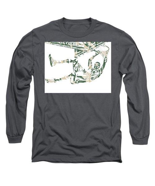 Giannis Antetokounmpo Milwaukee Bucks Pixel Art 20 Long Sleeve T-Shirt