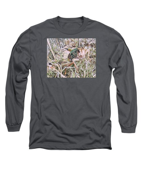Long Sleeve T-Shirt featuring the painting Giant Grasshopper by Joshua Martin