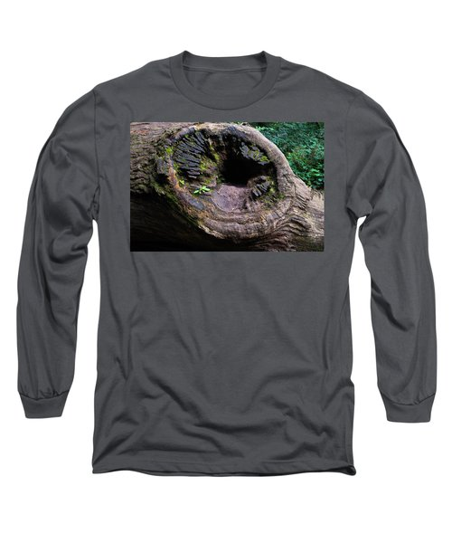 Long Sleeve T-Shirt featuring the photograph Giant Knot In Tree by Scott Lyons