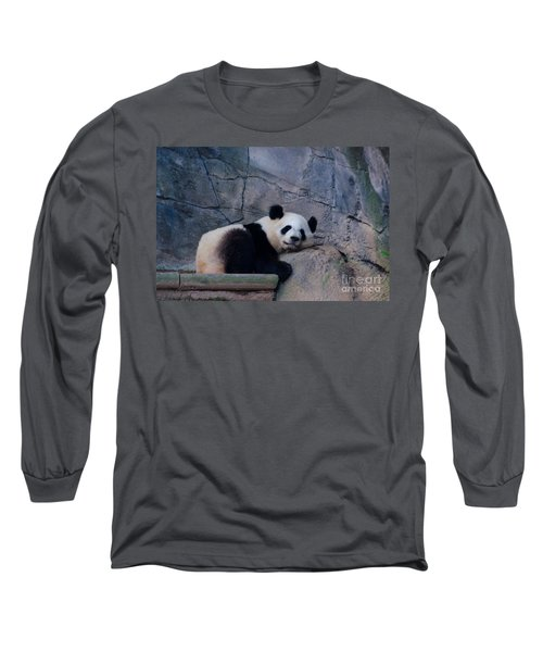 Giant Panda Long Sleeve T-Shirt by Donna Brown