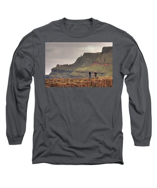Long Sleeve T-Shirt featuring the photograph Giants Causeway by Ian Middleton