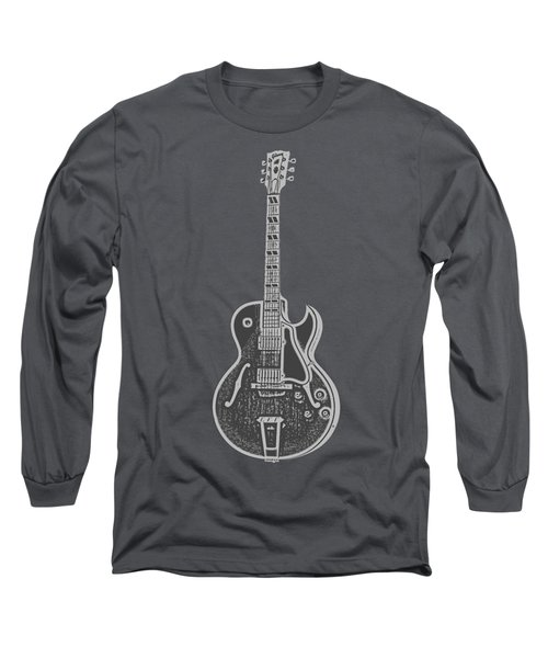Gibson Es-175 Electric Guitar Tee Long Sleeve T-Shirt by Edward Fielding