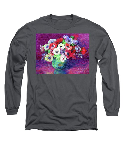 Gift Of Anemones Long Sleeve T-Shirt by Jane Small