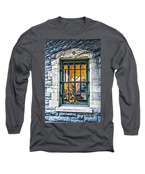 Gift Shop Window Long Sleeve T-Shirt by Sandy Moulder