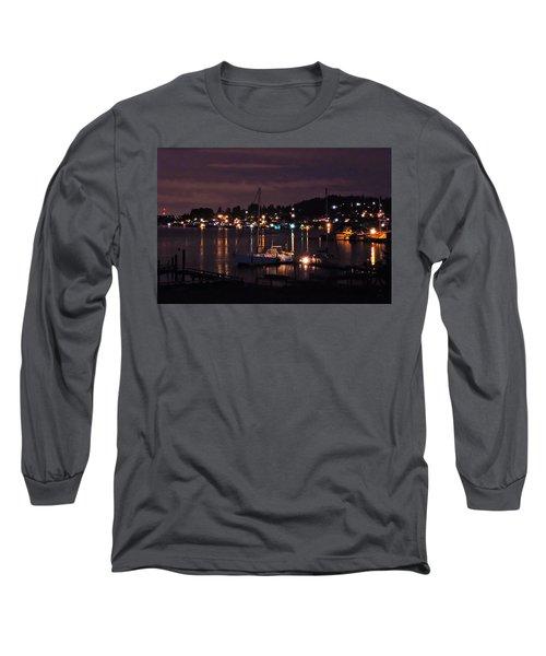 Gig Harbor At Night Long Sleeve T-Shirt