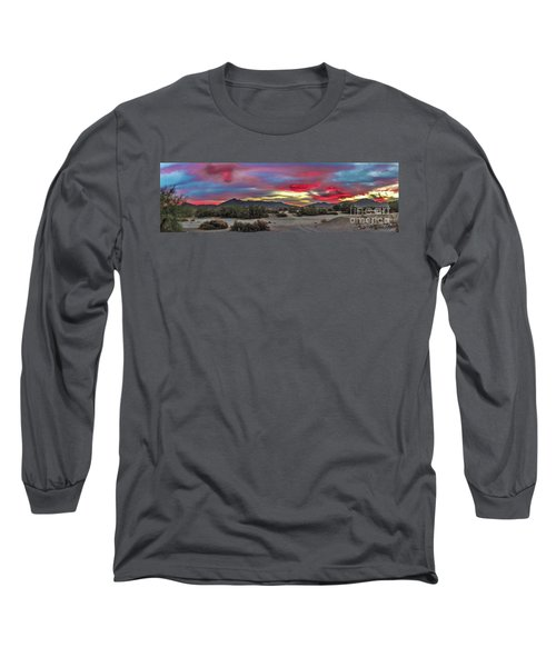 Long Sleeve T-Shirt featuring the photograph Gila Mountains And Sonoran Desert Sunrise by Robert Bales
