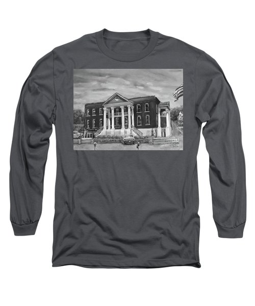 Gilmer County Old Courthouse - Black And White Long Sleeve T-Shirt