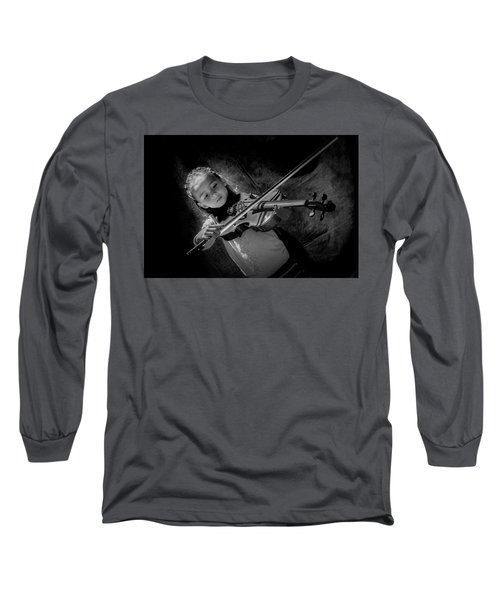 Gilrs And  Music Long Sleeve T-Shirt by Kevin Cable