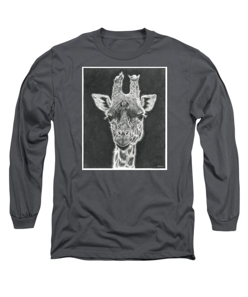 Giraffe Pencil Drawing Long Sleeve T-Shirt
