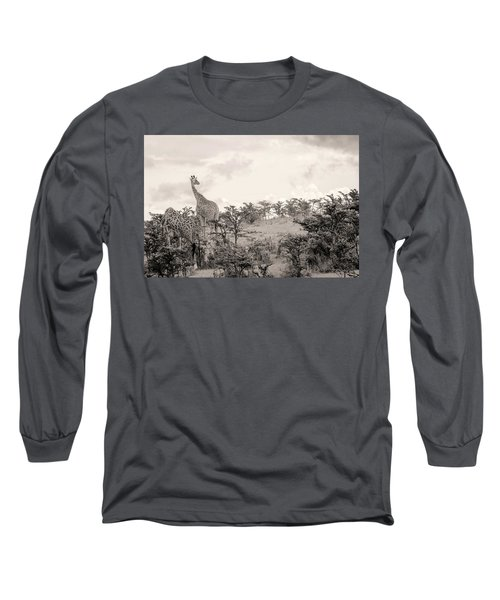 Long Sleeve T-Shirt featuring the photograph Giraffes by Stefano Buonamici