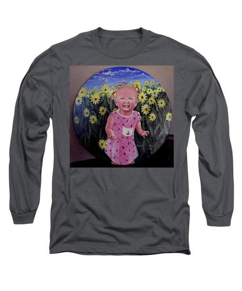 Girl And Daisies Long Sleeve T-Shirt