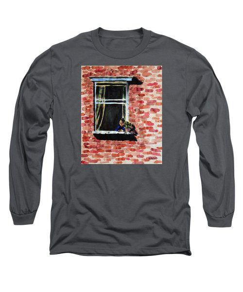Girl At Window Long Sleeve T-Shirt