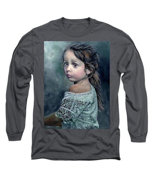 Girl In Lace Long Sleeve T-Shirt