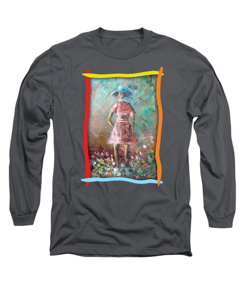 Girl In The Garden Long Sleeve T-Shirt