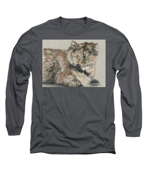 Long Sleeve T-Shirt featuring the drawing Girl  by Meagan  Visser