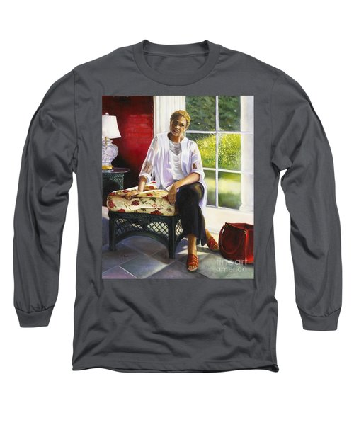 Girl Talk Long Sleeve T-Shirt by Marlene Book
