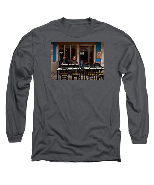 Long Sleeve T-Shirt featuring the photograph Girl Watching by Laura Ragland