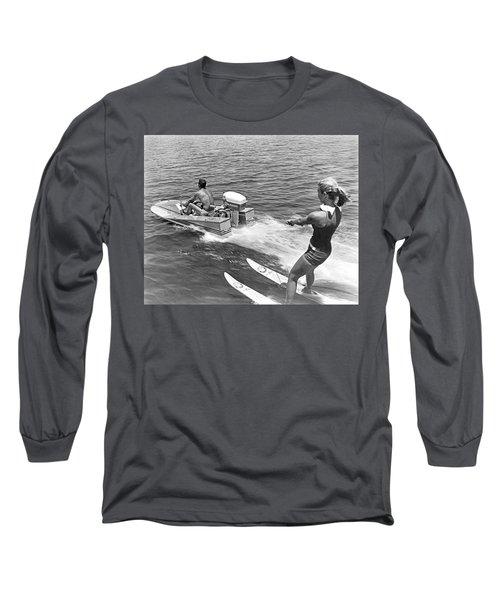 Girl Water Skiing Long Sleeve T-Shirt