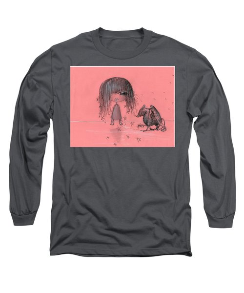 Girl With Griffin  Long Sleeve T-Shirt
