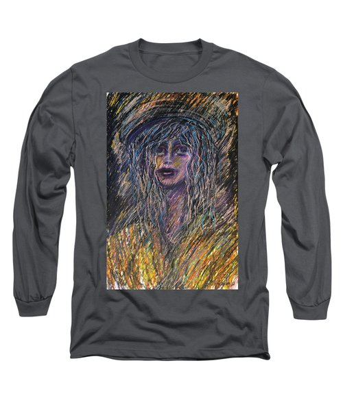 Girl With Hat Long Sleeve T-Shirt