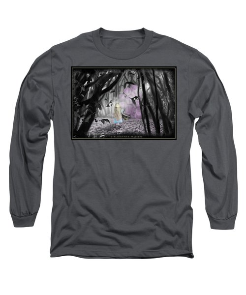 Girl With Pink Balloons Long Sleeve T-Shirt