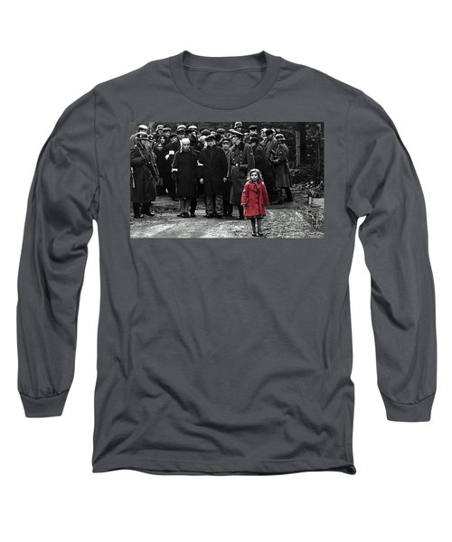 Girl With Red Coat Publicity Photo Schindlers List 1993 Long Sleeve T-Shirt