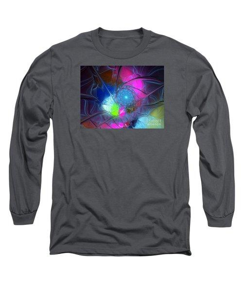Long Sleeve T-Shirt featuring the digital art Girls Love Pink by Karin Kuhlmann