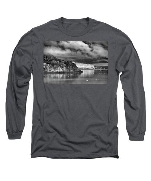 Glacier Bay Alaska In Bw Long Sleeve T-Shirt